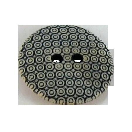 Bouton 2 trous slave beige - 2,7 cm