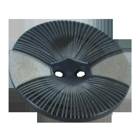 Bouton 2 trous beige - 2,8 cm