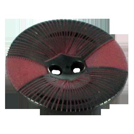 Bouton 2 trous bordeaux - 1,8 cm
