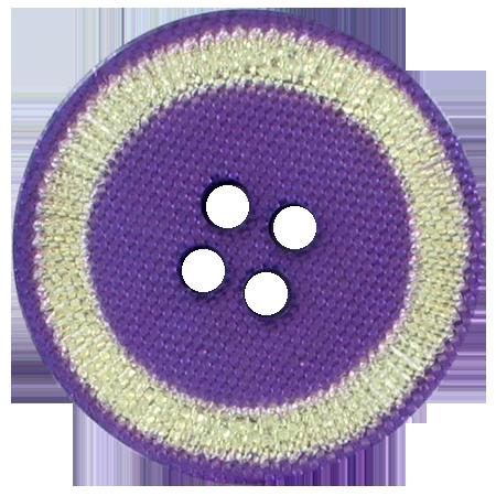 Bouton 4 trous violet doré - 2,5 cm