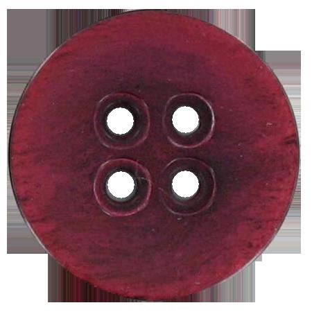 Bouton 4 trous rouge - 2,2 cm