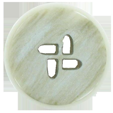 Bouton 4 trous ivoire - 3 cm