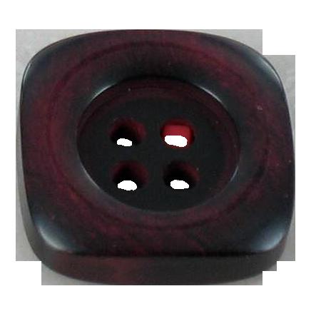 Bouton 4 trous carré rougé - 2,2 cm