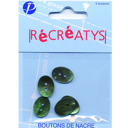 Boutons nacre - Ovales