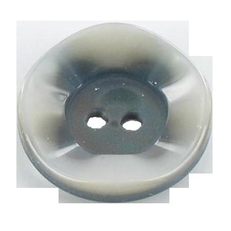 Bouton 2 trous ''bord nacré''  argenté - 2,7 cm