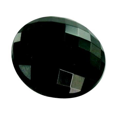 Bouton verre à queue noir - 2,2 cm