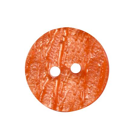 Bouton 2 trous orange - 1,5 cm