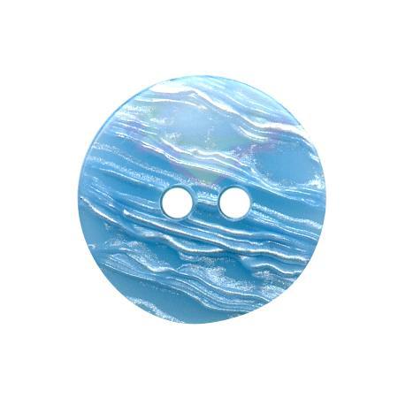 Bouton 2 trous bleu ciel - 1,5 cm