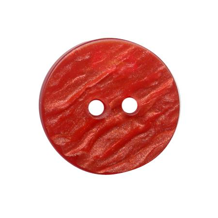 Bouton 2 trous rouge - 1,8 cm