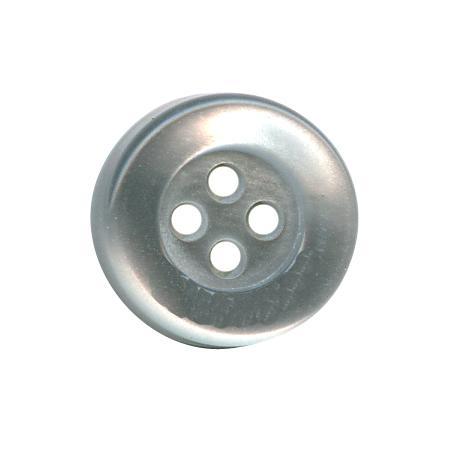 Bouton 4 trous gris clair - 1 cm