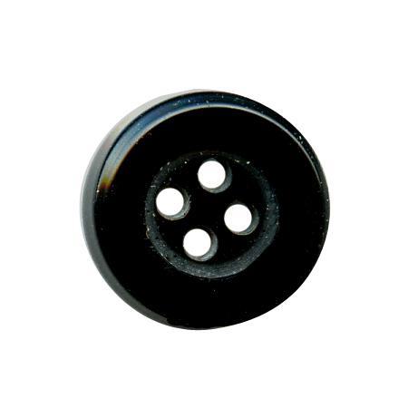 Bouton 4 trous noir - 1,4 cm