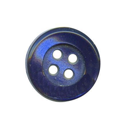 Bouton 4 trous bleu roi - 1,4 cm