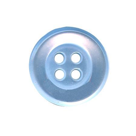 Bouton 4 trous bleu ciel - 1,4 cm