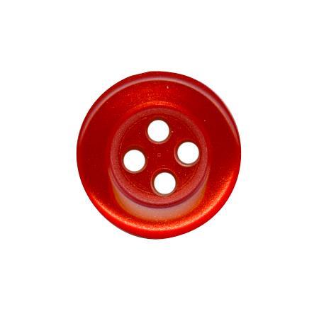 Bouton 4 trous rouge - 1,8 cm