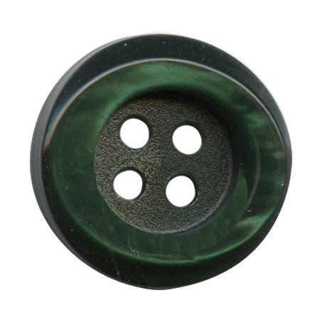 Bouton 4 trous galalith vert sapin - 1,8 cm