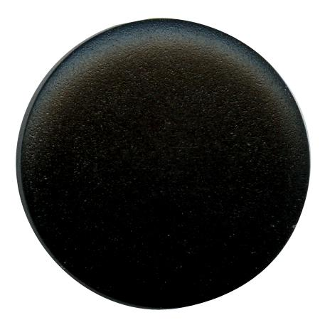 Bouton tunnel pastille noir - 1,3 cm