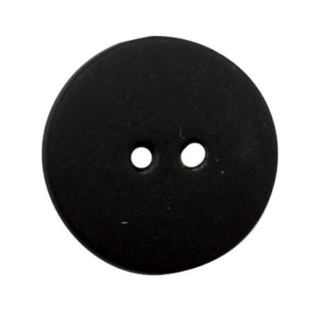 Bouton 2 trous gala satin noir - 1,2 cm
