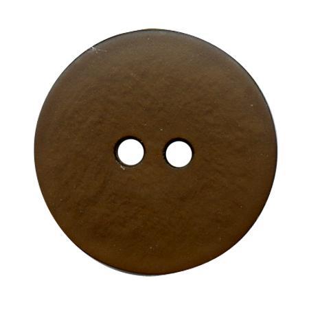 Bouton 2 trous gala satin marron - 1,4 cm