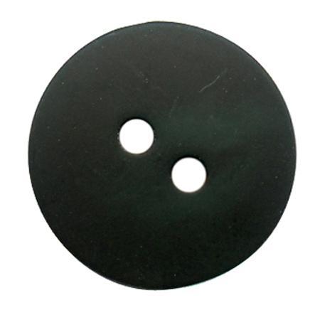 Bouton 2 trous gala satin vert olive - 2,2 cm