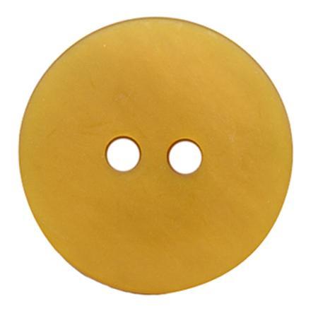 Bouton 2 trous gala satin jaune canari - 2,2 cm