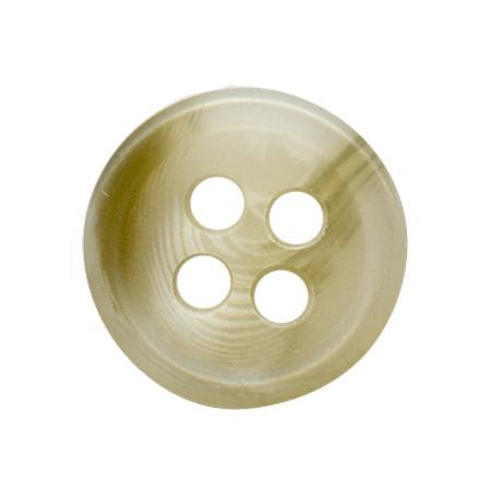 Bouton 4 trous chemise sable - 0,9 cm