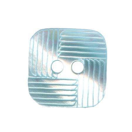 Bouton 2 trous carré vert pâle - 1,4 cm