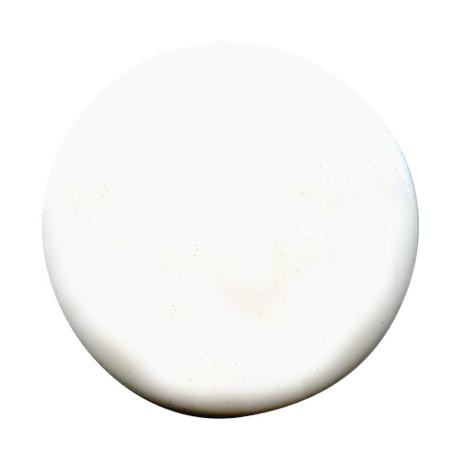 Bouton à queue  pastille brillant blanc - 1,4 cm