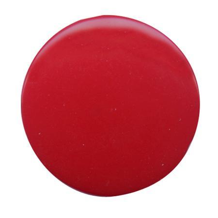Bouton à queue  pastille brillant bordeaux - 1,8 cm