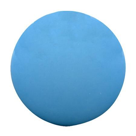 Bouton à queue pastille brillant bleu ciel - 2,2 cm