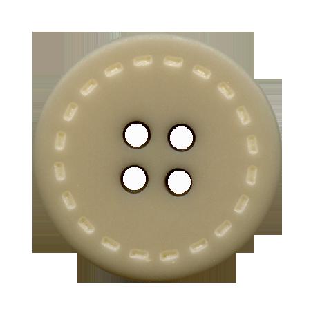 Bouton 4 trous surpiqué gris - 1,8 cm