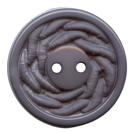 Bouton 2 trous gris - 2,7 cm