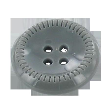 Bouton 4 trous gris - 1,4 cm