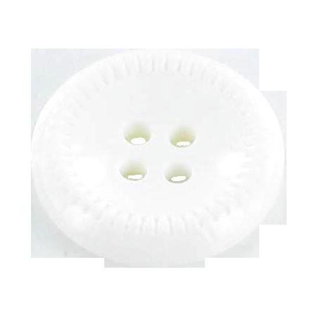 Bouton 4 trous blanc - 1,8 cm