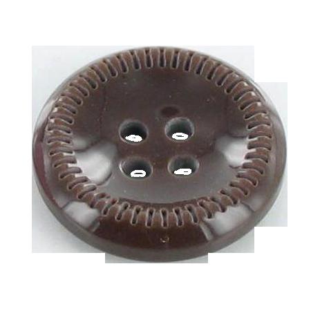Bouton 4 trous chocolat - 1,8 cm