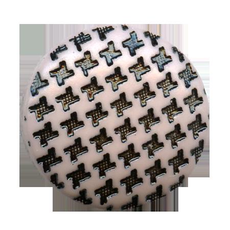 Bouton à queue ''pied de poule'' mauve - 1,5 cm