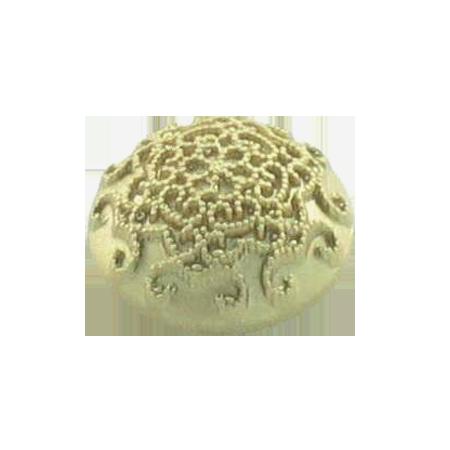 Bouton à queue ''motifs volutes'' doré  - 1,2 cm