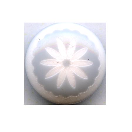 Bouton à queue ''fleur imitation céramique'' bleu clair - 1,2 cm