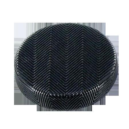 Bouton à queue métal ''chevron'' gris foncé - 1,5 cm