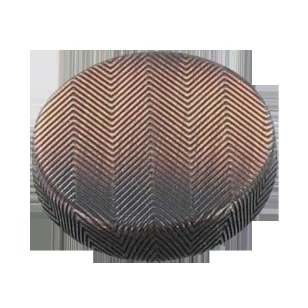 Bouton à queue métal ''chevron'' bronze - 1,8 cm