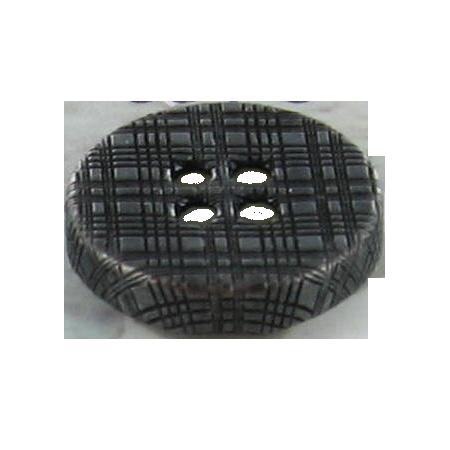Bouton 4 trous métal  ''burberry'' noir - 1,5 cm