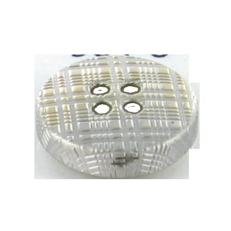 Bouton 4 trous métal  ''burberry'' argenté - 2,2 cm