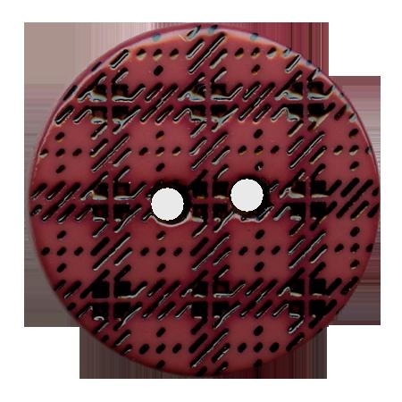 Bouton 2 trous ''écossais'' fuchsia - 1,5 cm
