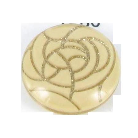 Bouton à queue beige métallisé - 2,2 cm