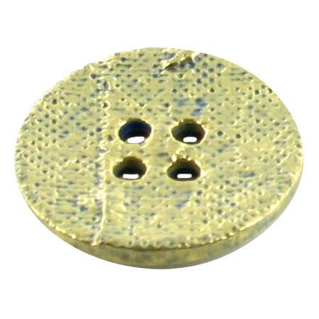 Bouton 4 trous rond doré - 2 cm