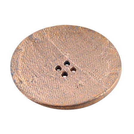 Bouton 4 trous rond cuivré - 2,8 cm