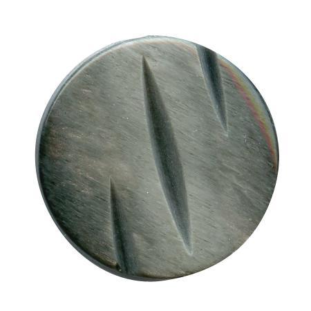 Bouton tunnel noir - 1,5 cm
