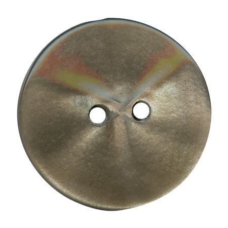 Bouton 2 trous gris foncé - 1,5 cm
