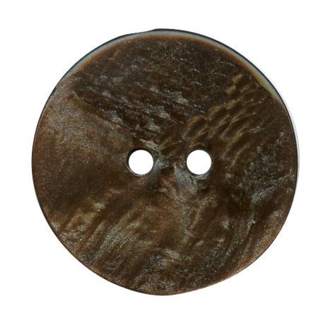 Bouton 2 trous chocolat - 1,5 cm