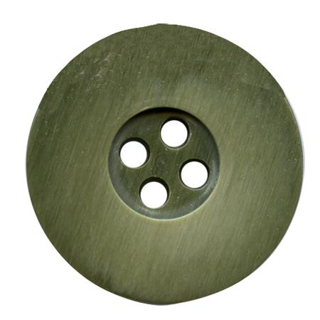 Bouton 4 trous poly ourle 15mm sienne