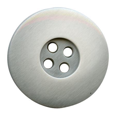 Bouton 4 trous poly ourle 15mm argenté